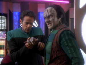 The synopsis on Netflix just says Bashir is surprised that a Cardassian boy bites Garak. I hope something else happen in this episode