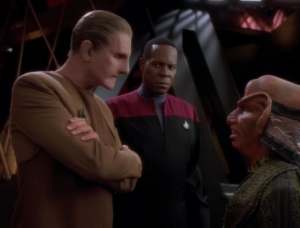 This all is connected to a murder investigation from back when the Cardassians had control of the station. Odo re-examines the case