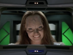 Seska sends a message to Chakotay saying she stole some of his DNA and impregnated herself with it. What a psycho