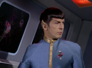 An alien ship s stalking Enterprise. Spock says it's going warp 10. He's probably just trying to freak people out