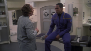 Mayweather goes to see Phlox because he has a headache