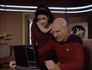 Picard isn't impressed by the novel