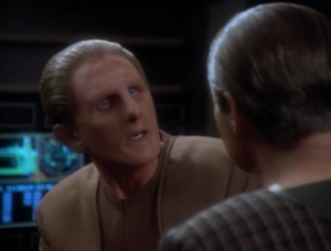 The scientist tries to scare Odo into believing that no one will understand why Odo did it. He says they'll put him into a zoo. Odo get's really scared. I guess this is supposed to show some real depth to his character, but come on. Does he really think Sisko's going to put him in a zoo?
