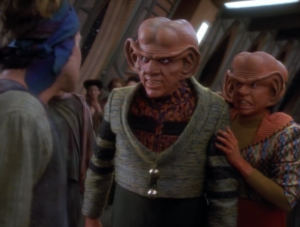 Nog gets in a fight with Walter Koenig's son