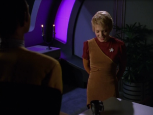 Kes wants to show Tuvok her new trick