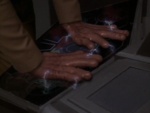Odo turns into a monster with sausage fingers