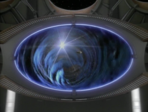 Something is coming through the wormhole from the Gamma quadrant!