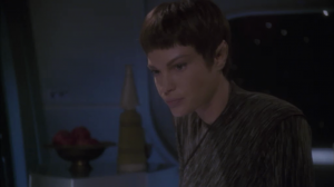 Everyone on board is knocked out except T'Pol, who making a log of what happened before everyone dies