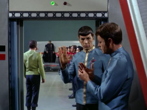 """Bones doesn't have the dexterity to do the """"Vulcan salute."""" Are there really people who can't do it?"""
