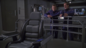 Archer wants his chair adjusted. If T'Pol is telling us what happened, can't she skip to the relevant stuff? Isn't she pressed for time or something?
