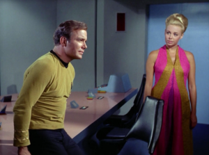 Kirk has sees an old friend that doesn't serve much purpose in this episode other than to remind us that ladies really love Kirk