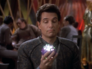 """This guy, Martus, acquires a gambling """"game"""". It just lights up when you push a button. That's not a great game"""