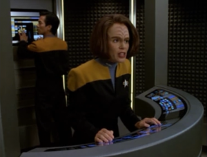 Seska counters B'Elanna's plan and makes it so they can't get a lock on Chakotay