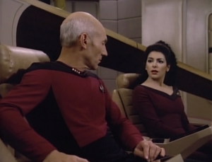 Troi senses that they feel trapped down there. Hey, she's being useful