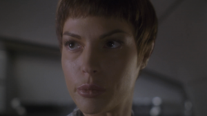 T'Pol says a Vulcan ship was nearly destroyed. Archer fact-checks her and finds out it was destroyed. I guess T'Pol didn't want to freak people out
