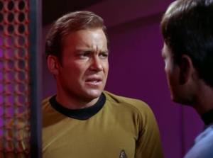 Bones and Spock start to think Kirk is acting a little obsessed with this thing