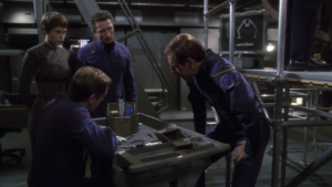 Trip finds something in the ship that still has some power. He's gonna try to get it working