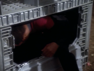 She makes Sisko endure the punishment instead of O'Brien because Sisko is the ranking officer. She gives Sisko the chance to get out if he'll take off his uniform and be like the others, but Sisko just climbs back in