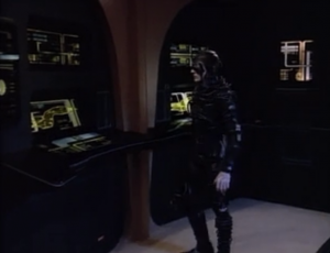 A Borg drone beams to the ship to check things out. The Borg's motives in this episode is only to steal technology