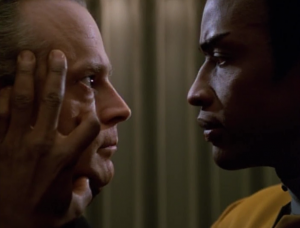 Tuvok decides to mind meld with Suder in order to understand why he did it
