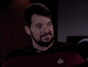 Riker is given the opportunity to command the Aries.