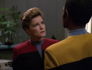 Tuvok begins to suggest that Suder be killed. At first he gives logical reasons for it, but as the episode goes on it becomes clear that Tuvok has picked up some tendencies from the meld