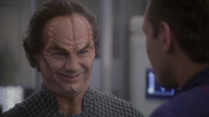 Trip tells Phlox that his wife is making advances. It doesn't seem to bother Phlox very much