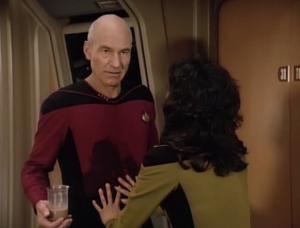I'm glad Picard seems as annoyed with this encounter as I am