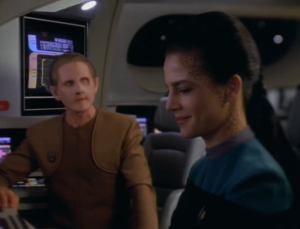 "Dax likes to gossip and Odo sees ""romantic coupling"" as foolish"