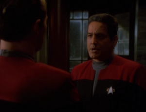 Chakotay finds out about Paris running a little gambling operation