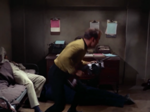 Kirk escapes from him too