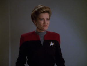 Janeway thinks the Trabe might be cool allies