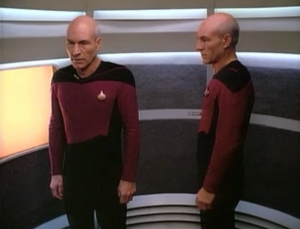 The future Picard becomes more alert and tries repeat what he did before: get off the ship seemingly to allow Enterprise to escape