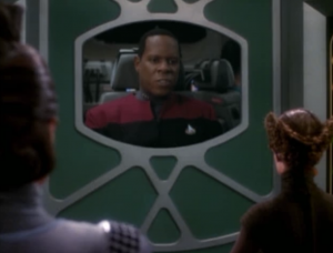 Sisko has a trick to get out of the situation. It's fairly easy for the viewer to see through the trick, but it's still good to see Sisko being tricky