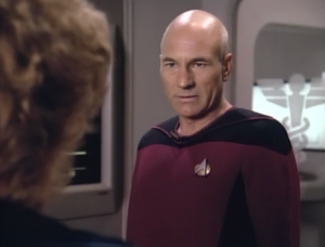 Picard has something wrong with him but he doesn't want anyone on Enterprise to know about it and he definitely doesn't want Pulaski to do the operation