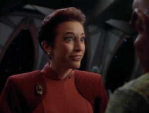 Kira figures out that Quark arranged for Bareil to come to the station to distract Kira