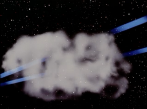 The phasers go right through it. Because it's a cloud.