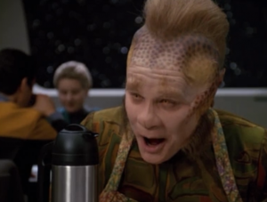 """Kim: """"If Voyager achieved warp ten, we could be home in as long as it takes to push a button.""""  SPOILER: They won't reach home in as long as it takes to push a button in this episode"""