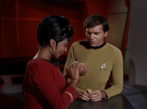 Uhura gets a tribble