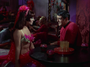 Scotty has the hots for the belly dancer. He asks her if they can take a walk in the fog together.
