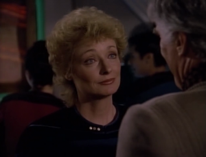 Pulaski almost married Riker's dad. This is weird. It's also too much of a coincidence