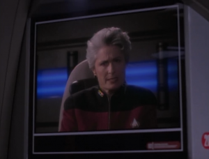 He contacts an admiral but she just tells him to go back to the station