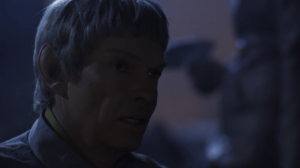 """Soval says T'Pol has picked up a """"human accent"""". She talks just like him"""