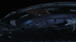 Enterprise gets swallowed by a big ship