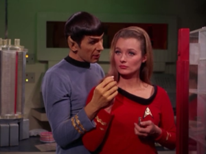 Beings take over Spock and Pulaski's body. They thing in Spock is a schemer