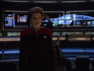 The dreadnought is going to kill millions of people so Janeway sets Voyager to self destruct in front of it