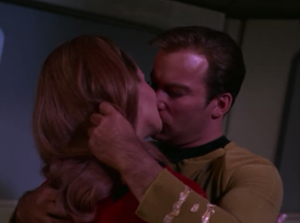 Kirk and Pulaski let the beings take over their bodies one last time to make out. That's weird