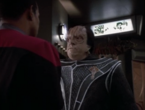 Dukat was captured by the Maquis but the Cardassian high command isn't bothered. They say Dukat was responsible for giving weapons to Cardassians in the demilitarized zone