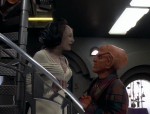 A past love of Quark is hiding on the station. She's involved with some kind of political movement