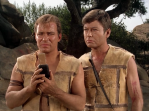 Kirk tells Spock and Scotty to prepare to beam down 100 serpents to the garden of Eden. I don't think they know what you're talking about, Kirk.